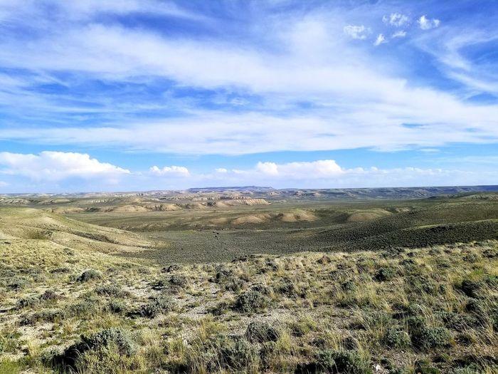 Wyoming Landscape Erosion Effects Sky Cloud - Sky Landscape