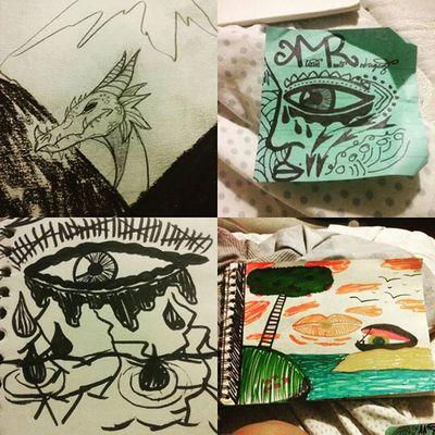 So um yeah this Happens when I can't Fall Asleep Simplybeingalice art surrealism art dragon eye ocea