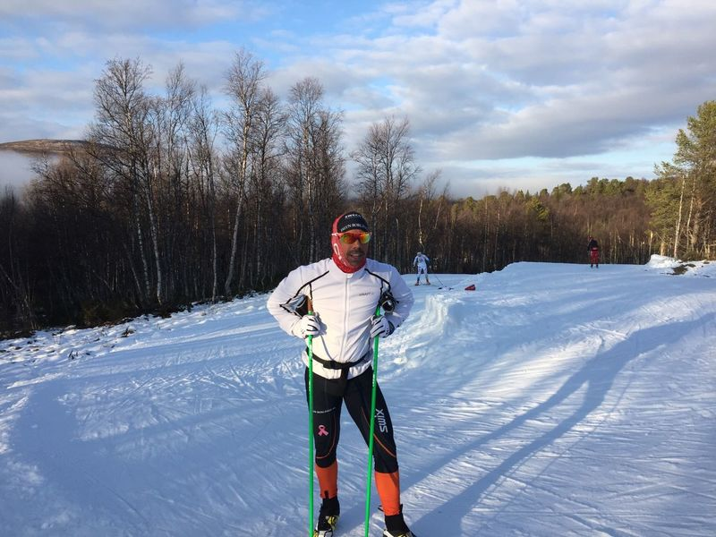 Great weather today! Cross Country Winter Snow Skiing