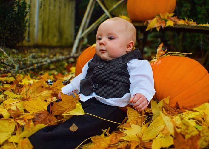 My nephew Autumn Halloween EyeEm October2016 Babyportraits Childhood Babyhood Enjoying Life Oregonlife Nikond3300