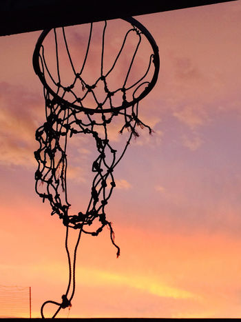 My Hoop Atmosphere Atmospheric Mood Barbed Wire Basketball Basketball Game Branch Chainlink Fence Fence Hoop I Love This Game Light Low Angle View Metal No People Outdoors Shiny Shoot Shooter Silhouette Sky Sport Tranquility Basketball Ring Baller
