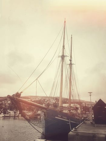 Sailing Ship Harbour Faroe Islands Iceland116
