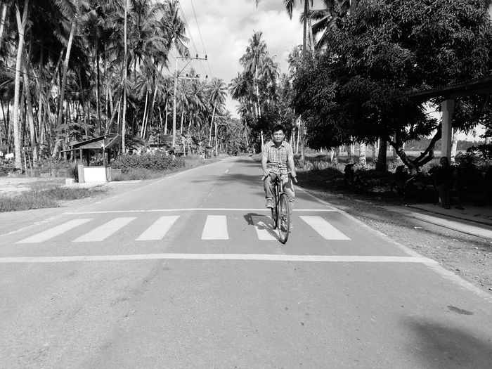 Bicycle One Person People Beauty In Nature Outdoors Sky South Nias Lagundribeach