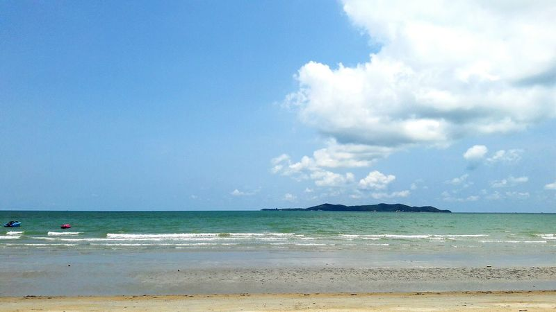 Summer Sea Sky Blue Sky Coulds And Sky Rayong,Thailand Rayong Thailand Travel
