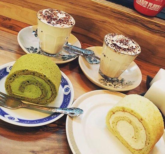 Save room for Dessert! Cake Dessert Cafe Cafe Time Green Tea Flavor Yuzu Citrus Milk WarmMilk Food