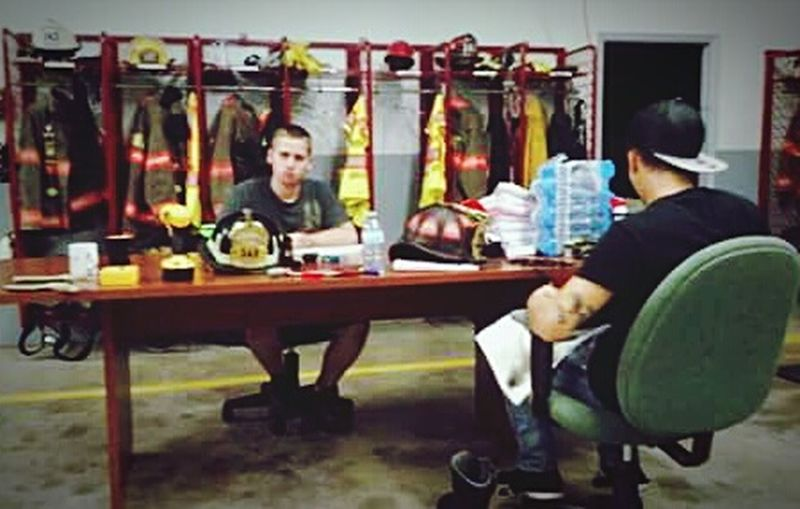 Live To Learn teaching young Firefighter to become a old firefighter. Learn To Live EyeEm Gallery Lifestyle Training Working Hard Engine Company Popular Photos