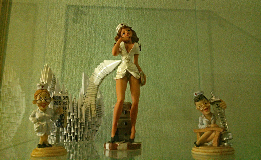 Alluring  Casual Clothing Doctor  Figurine  Figurines  Fun Good-looking Humour Medical Medical Humour Medicine Nurse Seducing Sexy Sexy Doctor Sexy Girl Sexy Nurse Standing Statuette Statuettes Young Adult Young Women