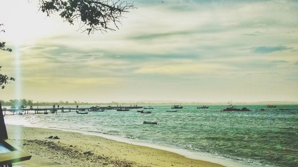 Beach Horizon Over Water Sea Sky Nature Cloud - Sky Sand Water Scenics Outdoors Tranquility Sunset No People Beauty In Nature Horizon Day Landscape Wave Nautical Vessel Tree Nature Ocean Photography Photography Themes Brazil Ocean
