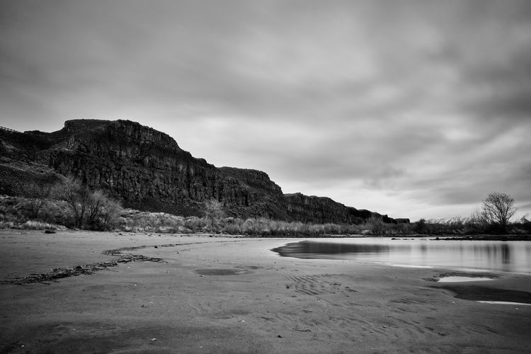 Sand Hollow Backgrounds Beach Beauty In Nature Beverly, WA Blackandwhite Cloud - Sky Day Dry Landscape Long Exposure Mountain Nature No People Outdoors Overcast Rugged Sand Sand Hollow Scenics Sky Tranquil Scene Tranquility Washington VSCO