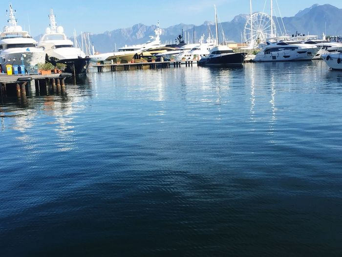 I love the sight of every morning of my work ❤️ #viareggio #LoveLife  #Yacht #benetti Water Nautical Vessel Transportation Mode Of Transportation Waterfront Reflection EyeEmNewHere Nature Architecture Yacht Sky Built Structure Sailboat Day