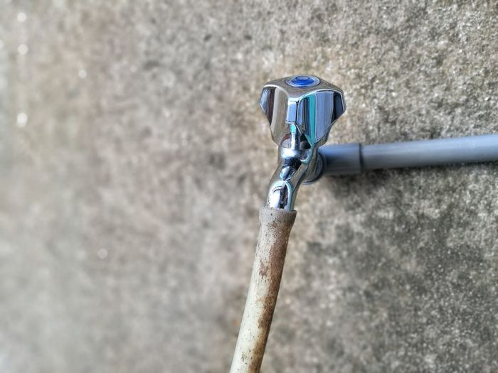 Strength No People Outdoors Steel Water Tap Pipe Water Pipe Washing Area Wash