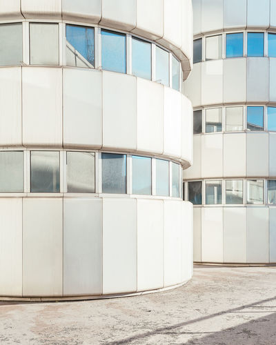 Architecture Built Structure Building Exterior Building Modern Day No People City Office Building Exterior Office Wall - Building Feature Outdoors White Color Glass - Material Pattern Window Empty Nature Footpath