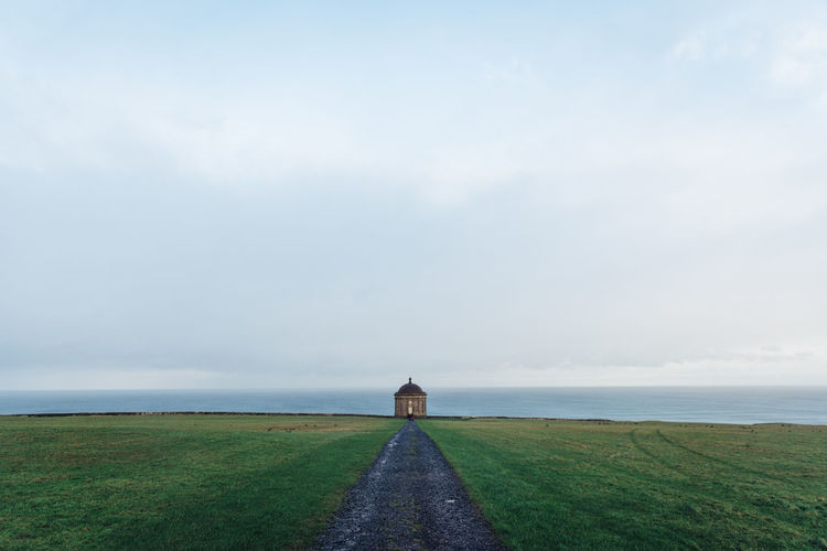 Mussenden Temple, Northern Ireland Architecture Architecture Building Exterior Built Structure Cloud Cloud - Sky Cloudy Copy Space Irela Ireland Landscape Mussenden North Coast Northern Outdoors Overcast Sky Tranquil Scene Tranquility Trip Vacation