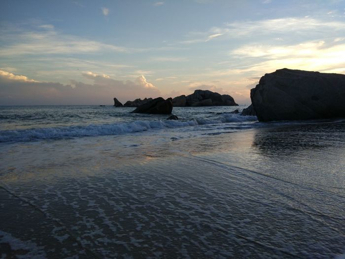 Sleeping giant sunrise Sea Beach Sunset Rock - Object Water Outdoors Sand Nature Wave No People Beauty In Nature Day