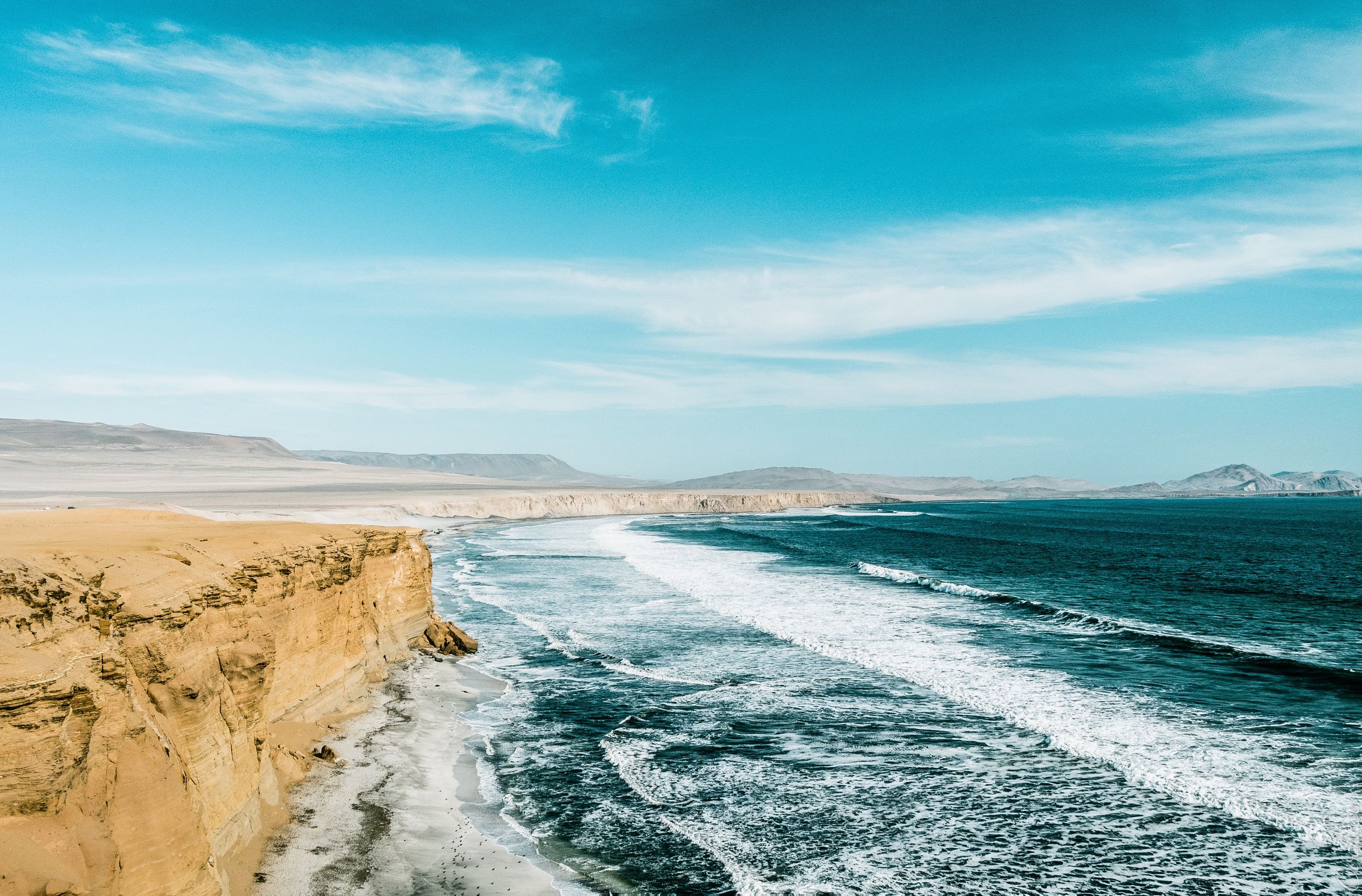 scenics - nature, water, sea, sky, beauty in nature, land, cloud - sky, beach, tranquil scene, tranquility, motion, day, nature, aquatic sport, wave, non-urban scene, sport, remote, surfing, outdoors