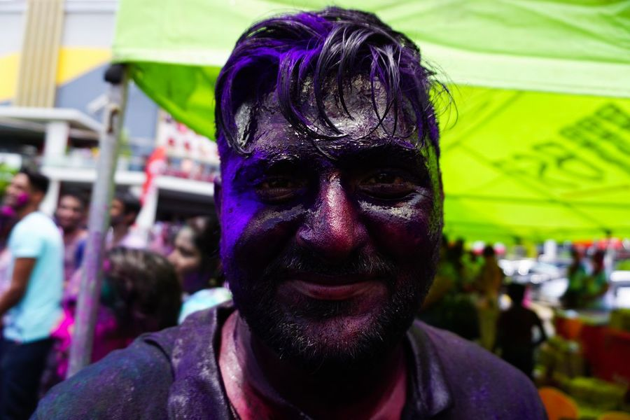 Adult Close-up Fiji Focus On Foreground Holi Holi Festival Of Colours Incidental People One Person Pacific Real People SUVA FIJI ISLANDS The Portraitist - 2017 EyeEm Awards