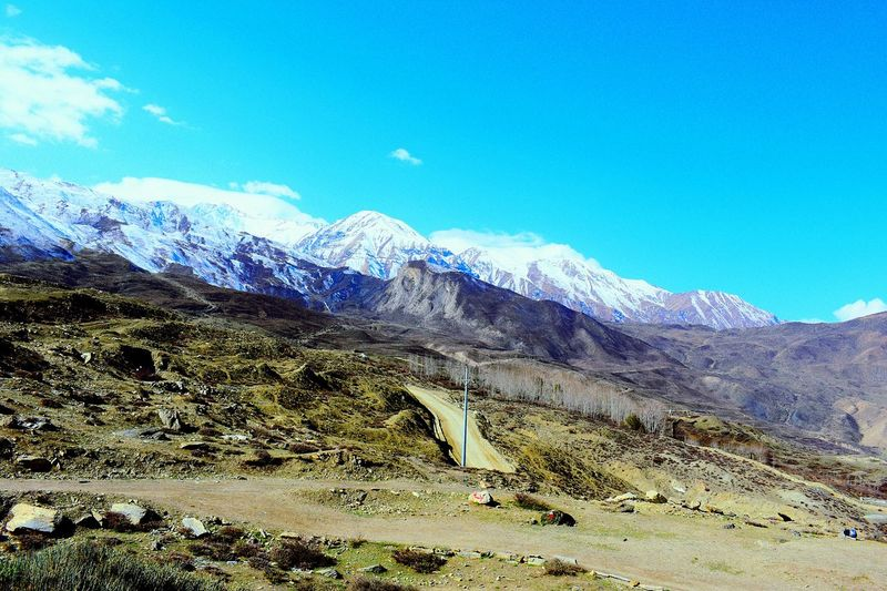 Mustang Pride!  Beauty In Nature Mountain Range Landscape Mountain Nature Jomsom Amazing Mustang Way To Muktinath Temple Amazing Nepal Nepal Travel Hello World Check This Out Beauty In Nature Nature Mustang Amazing