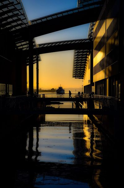 Bridge. Reflection Sunset Architecture Silhouette Beauty In Nature Nautical Vessel Eye Em Nature Collection Vibrant Color EyeEm Best Shots - Nature Norway Oslo Eye Em Nature Lover Fjord Aster Fearnley Museet
