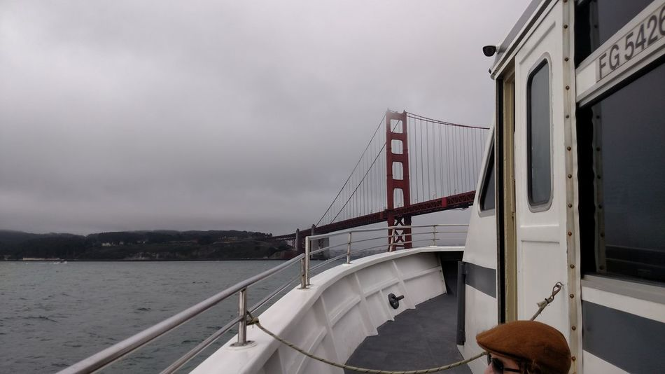 Bridge Golden Gate Bridge Boat Bay Bay Area Built Structure No People Factory Business Finance And Industry Outdoors Day Water Bridge - Man Made Structure Sky Architecture