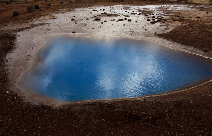 Iceland geysir deep blue something colours nature Iceland Geysir Blue Solfatare Beauty In Nature