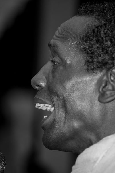 Black And White Black People Charles Role Close-up Concert Headshot Live Live Music Mallorca Mouth Open Musician One Person Peguera Side View Singer  Singing The Portraitist - 2017 EyeEm Awards