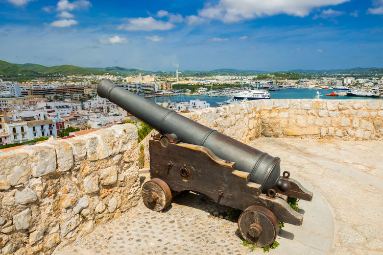 View of cannon against sky