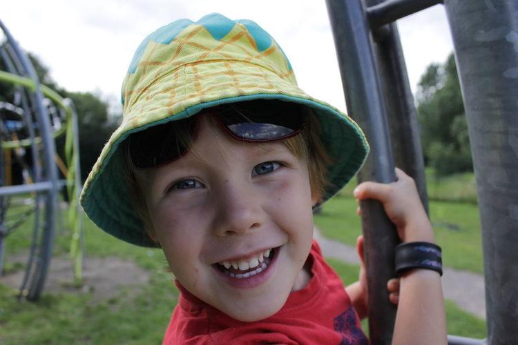 Portrait of smiling boy