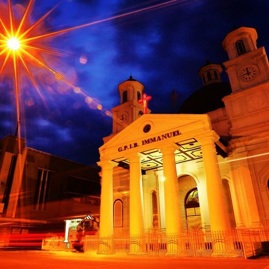 Blenduk Church Semarang Old City Night Photography Slowshutter Outside Bindebros Travel Travelgram INDONESIA HDR Instagood Love Follow Travelingindonesia Instanusantara Color