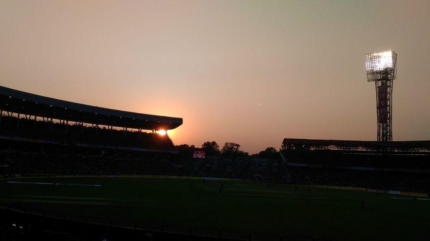 Sunset No People Illuminated Night Tree Sky Grass Outdoors Nature Cricket Match Cricket Ground Cricket Pitch Cricket Stadium Eden Garden Edengarden Kolkata Kolkatapictures CricketLove IPLFever