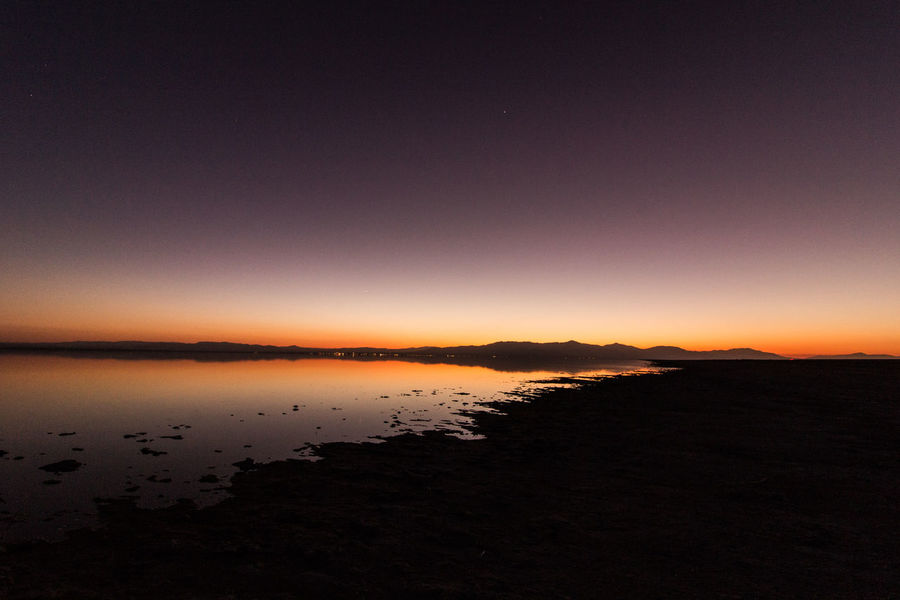 Salton Sea Beauty In Nature Mountain Nature No People Outdoors Reflection Scenics Silhouette Sky Sunset Tranquil Scene Tranquility Water Wide Angle