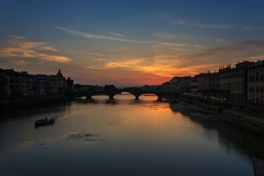 Arno river sunset, Florence, Italy Arno  Arno River Firenze Florence, Italy Italia River Arno Sky And Clouds Sunset Silhouettes Sunset_collection Architecture Boat Boats City Florence History Italy Italy❤️ Italy🇮🇹 Nature Outdoors River Sky Sky Sunset Sunset Water