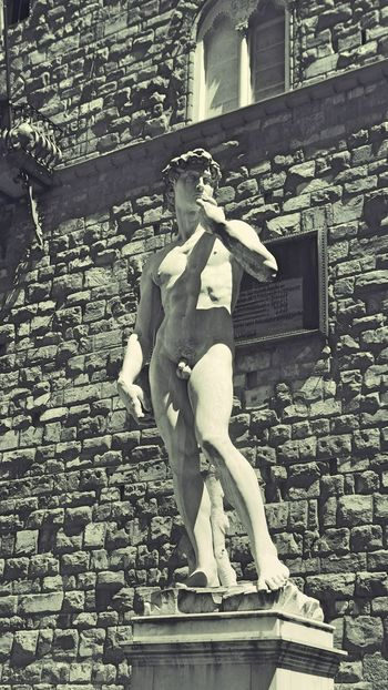 Architecture Art Black & White Black And White Brick Wall Built Structure Day Firenze Florence Florence Italy Italy Man Naked Nüde Art. Outdoors Sculpture Statue Stone Toscana Toscana ıtaly Toskana Toskana,italy