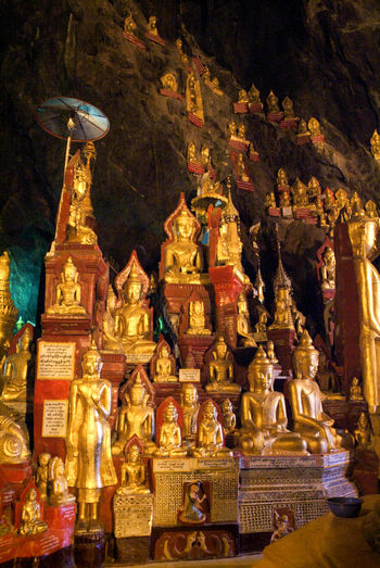 Buddha Golden Architecture Burma Close-up Day Gold Colored Human Representation Indoors  Myanmar No People Place Of Worship Religion Sculpture Spirituality Statue Staue  Travel Destinations