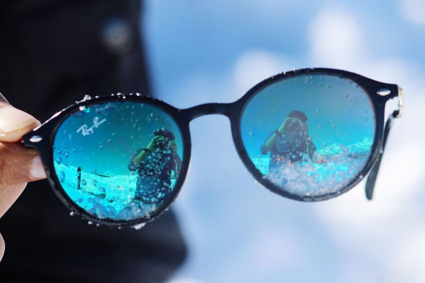 Snow and Glass Shades Of Winter Sunglasses Eyeglasses  Eyewear Fashion Protection Eyesight Reflection Outdoors No People Day Sky An Eye For Travel EyeEmNewHere