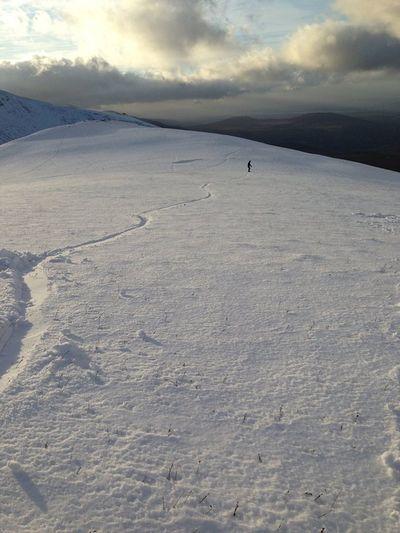 Snowboarding Cymru Wales Snow Mountains Carneddau