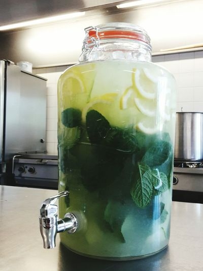 Fresh Drinks Healthy Lifestyle Health Citron Mint Leaves Cumcumber Ice