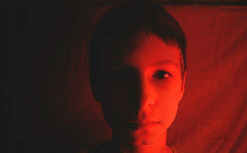 Portrait Boy Redlight Eye Colors Contrast Inspired Dramatic Faces Of EyeEm Faceshape