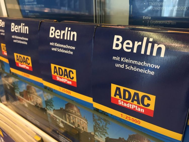 ADAC Stadtplan Berlin, Berlin city map edited by ADAC ADAC Berlin City Map GERMANY🇩🇪DEUTSCHERLAND@ Germany 🇩🇪 Deutschland Germany🇩🇪 Map Plan Close-up Communication Germany Go Higher Information Mode Of Transportation No People Sign Text Topography Transportation Travel Western Script