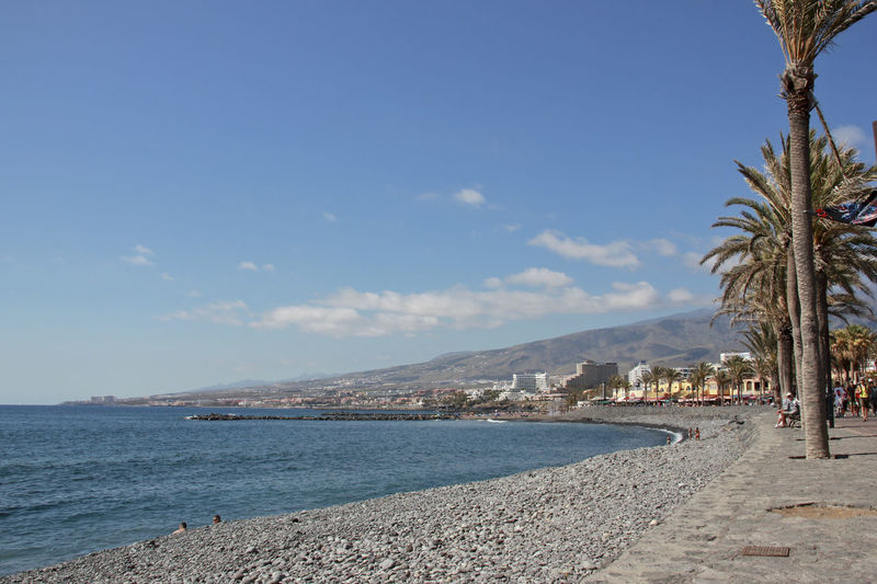 Scenic view of sunny beach