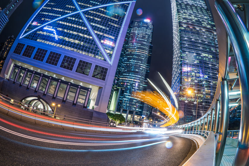 ASIA Asian  HongKong Light Road Traffic Travel Arcitecture Bank Of China Building Building Exterior Bus Car Chinese Hongkongphotography Long Exposure Night Street