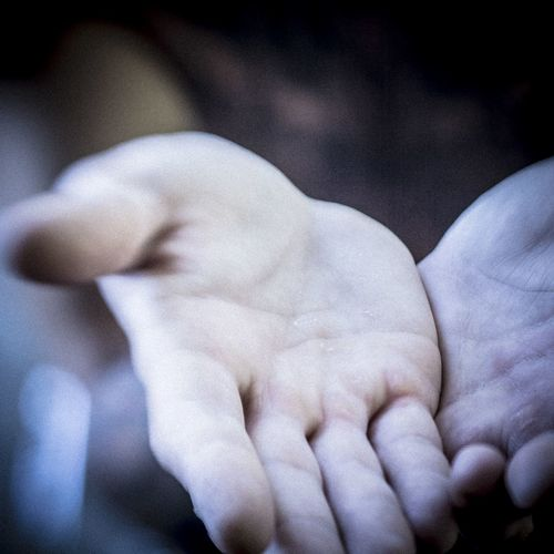 Close-up of baby hand