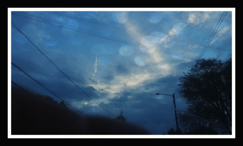 Jagged clouds