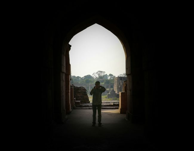 Dark Only Men One Man Only Full Length Adults Only One Person Adult Arch People Indoors  Politics And Government Day Madhyapradesh Mandu Fort India EyeEmNewHere Front View The Week On EyeEm Monument History