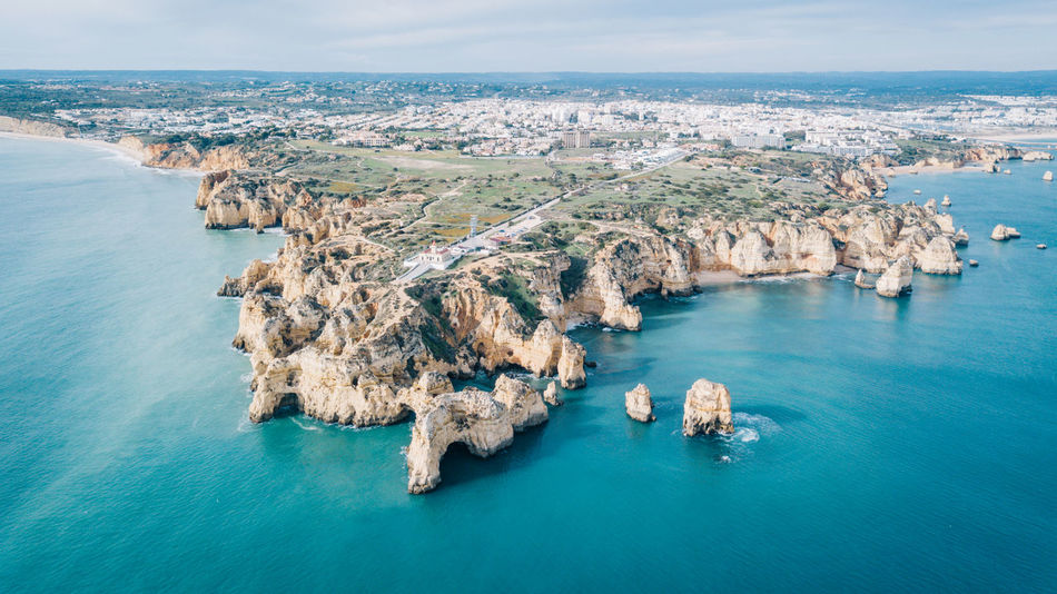Algarve Atlantic Atlantic Ocean Coastline Drone  Lagos Ponta Da Piedade Tourist Attraction  Aerial View Algarve, Portugal Beach Beauty In Nature Blue Water Coast Day Dji High Angle View Horizon Over Water Nature No People Outdoors Scenics Sea Seaside Sky Water Waterfront