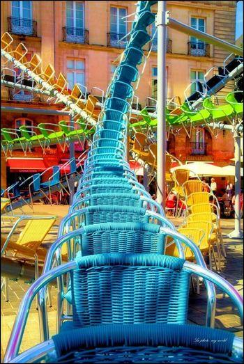 Bouffay Le Voyage à Nantes Chaises Art Colors Colorphotography
