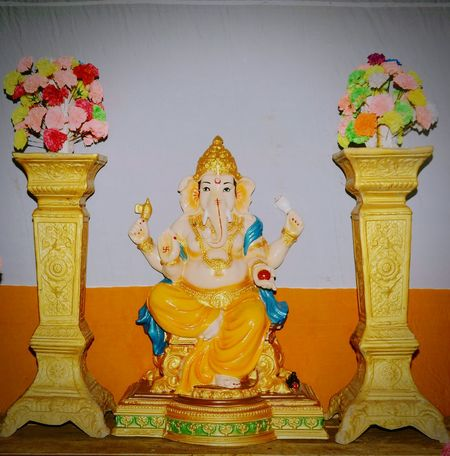 Statue Flower Gold Sculpture Place Of Worship Gold Colored Religion Idol Human Representation King - Royal Person Ganesha Golden Color Royalty The Traveler - 2018 EyeEm Awards The Photojournalist - 2018 EyeEm Awards The Portraitist - 2018 EyeEm Awards The Great Outdoors - 2018 EyeEm Awards The Street Photographer - 2018 EyeEm Awards The Creative - 2018 EyeEm Awards EyeEmNewHere 10 The Architect - 2018 EyeEm Awards