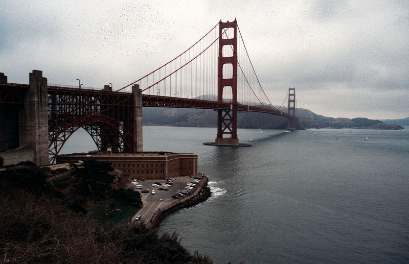 Golden gate bridge in city