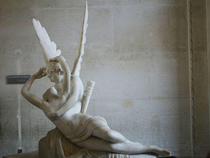 Angel Statue Against Wall