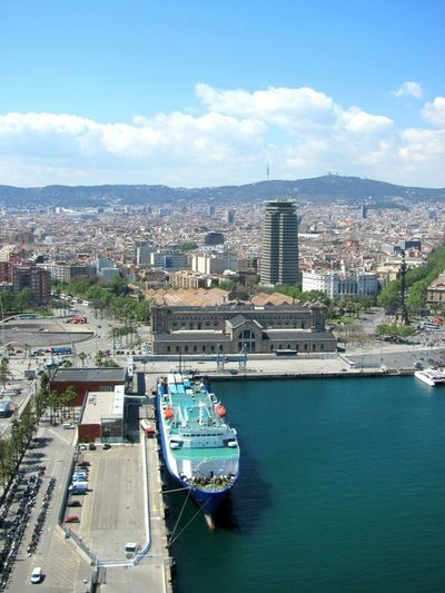 Rambla. Harbor Barcelona Barcelona, Spain Transportation No People Turism Architecture Cityscape Nautical Vessel Sailboat Sailing Ship Sea City Day Sky Water Boats And Water Building Exterior Whotelbarcelona Cityscape Travel Destinations Urban Skyline Modern Cloud - Sky