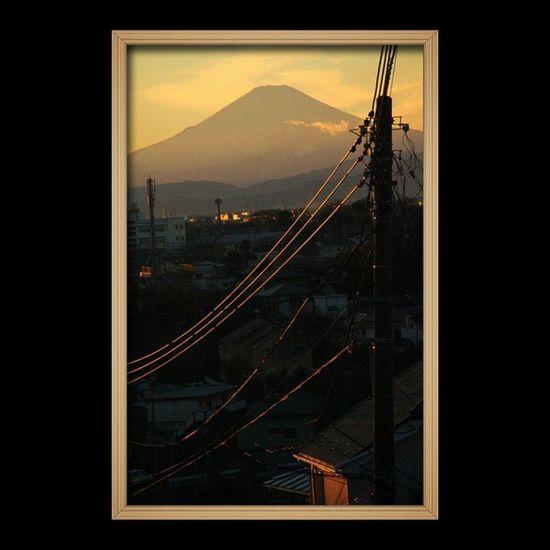 And another one. This is the view from my neighborhood Mtfuji Fujisan Totsuka Yokohama japan